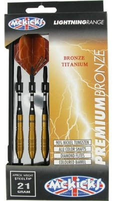 McKicks Premium Bronze 90% steeltip dartpijlen