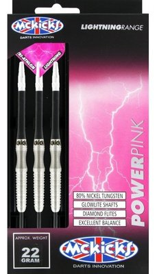 McKicks Power Pink 80% steeltip dartpijlen