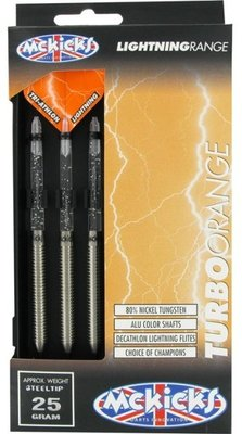 McKicks Turbo Orange 80% steeltip dartpijlen