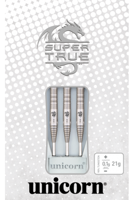 Unicorn Super True White steeltip dartpijlen