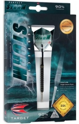 Target Perfect Storm 2 Black steeltip dartpijlen