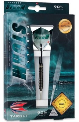 Target Perfect Storm 3 Black steeltip dartpijlen