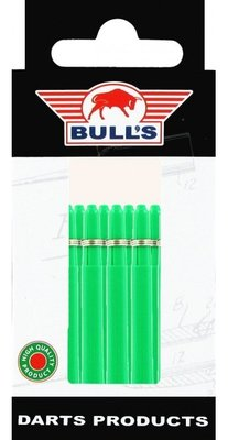 Bull's Medium Nylon Ring shafts groen - 5 pack