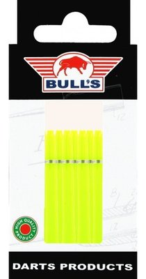 Bull's Medium Nylon Ring shafts lime - 5 pack