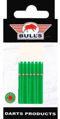 Bull's In Between Nylon Ring shafts groen - 5 pack