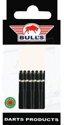 Bull's Short Nylon Ring shafts zwart - 5 pack