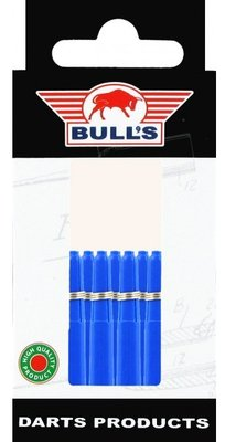Bull's Short Nylon Ring shafts blauw - 5 pack