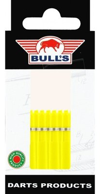 Bull's Short Nylon Ring shafts geel - 5 pack