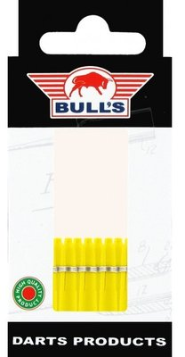 Bull's X-Short Nylon Ring shafts geel - 5 pack