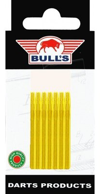 Bull's Medium Aluminium shafts goud - 5 pack