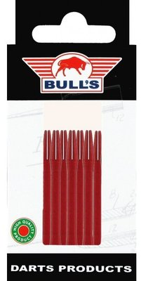 Bull's Medium Aluminium shafts rood - 5 pack