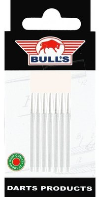 Bull's Medium Aluminium shafts zilver - 5 pack