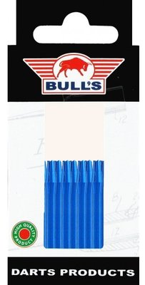 Bull's Short Aluminium shafts blauw - 5 pack