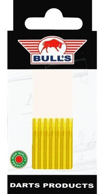 Bull's Short Aluminium shafts goud - 5 pack