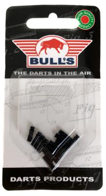 Bull's Flight Protector aluminium zwart - 5 pack
