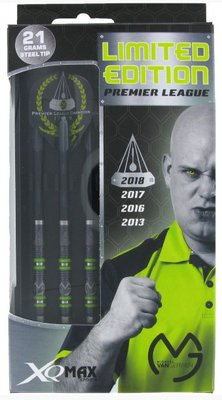 XQ-Max Michael van Gerwen Premier League 2018 Limited Edition 90% tungsten steeltip dartpijlen