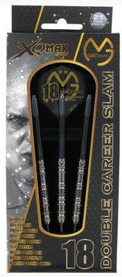 XQ-Max Michael van Gerwen Double Career Slam Limited Edition 90% tungsten steeltip dartpijlen