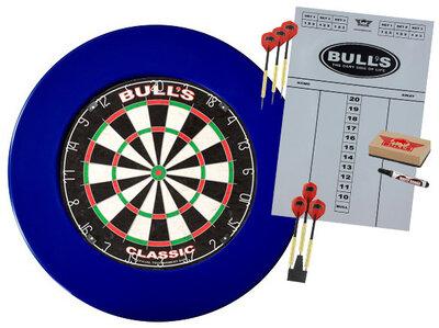 Bull's Classic sisal dartset met blauwe surround