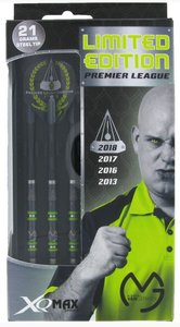XQ-Max Michael van Gerwen Premier League Limited Edition 90% tungsten steeltip dartpijlen