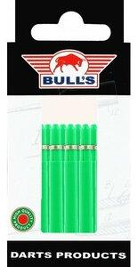 Bull's Medium Nylon Ring shafts groen - 5 pack