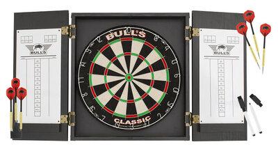 afbeelding van Bull's Classic sisal dartset met kabinet