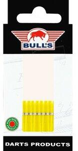 Bull's X-Short Nylon Ring shafts geel - 5 pack